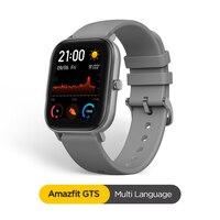 Globalna wersja Amazfit GTS inteligentny zegarek 5ATM wodoodporny Smartwatch długi na baterie GPS sterowanie muzyką skórzany pasek silikonowy