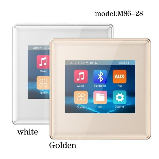 Amplificateur mural à écran tactile, 2020 pouces, système audio domestique, système de musique de noël, nouveau produit 2.8