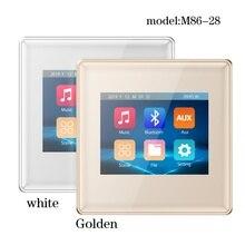 Tela de toque parede amplificador 2020 novo produto M86 28 2.8 polegada parede montagem amplificador casa sistema áudio sistema música natal