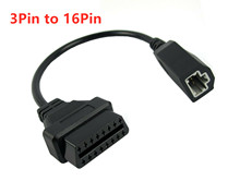 Best Price Diagnostic Interface 3Pin to Female 16Pin For HDS Lead Cable Honda 3 pin 5 Pin 16 Connector JC10