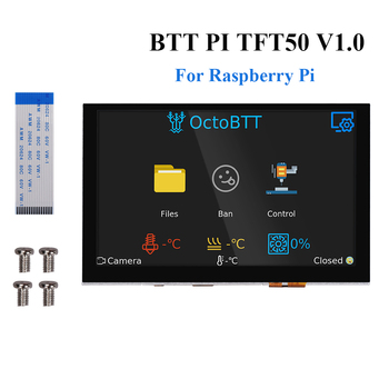 BIGTREETECH PITFT50 V1.0 Raspberry Pi LCD 5 Inch 800*480 Display DSI Octoprint For Raspberry Pi 4/3 3B+/2B/A 3D Printer Parts ctp capacitive touching panel with 5 inches lcd display screen for raspberry pi display b 800 480 diy module kit