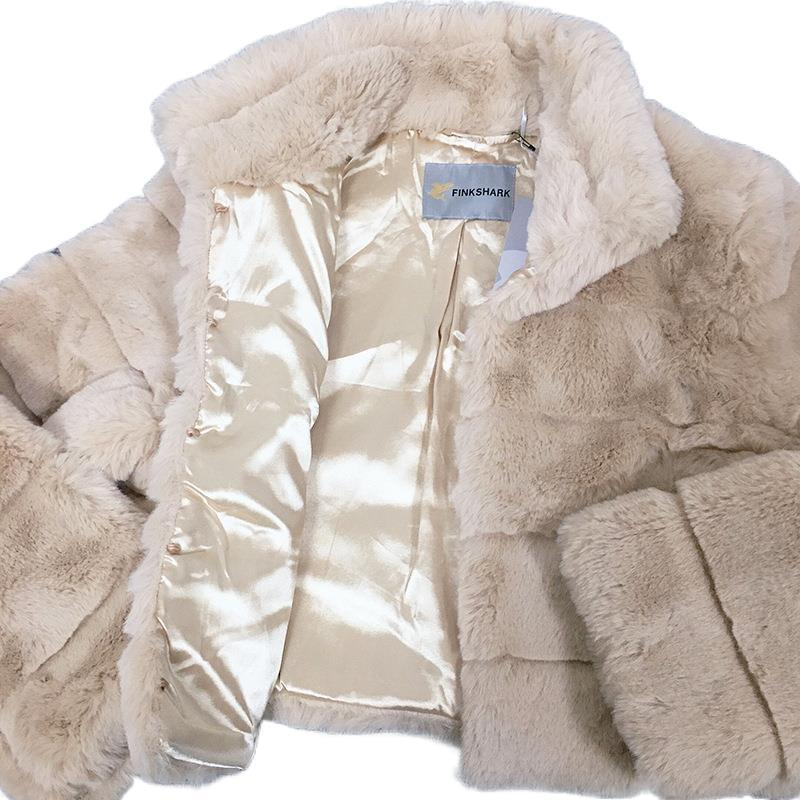 2020 New Coat Elegant And High-quality Womens Clothing Long-sleeved Stand-up Collar High-quality Fur Suitable For Various Places