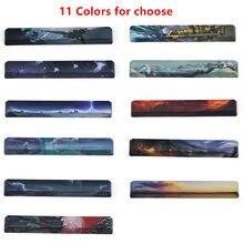 Padrões 11 Barra De Espaço PBT Keycap Cinco Lados Dye-Substituiu 6.25U OEm Perfil Barra De Espaço Nave Espacial para espaços de Teclado Mecânico DIY