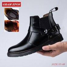 GRAM EPOS/зимние мужские Ботильоны унисекс в британском стиле; ботинки «Челси» с круглым носком; Zapatos De Hombre; модная обувь; мужские ботинки