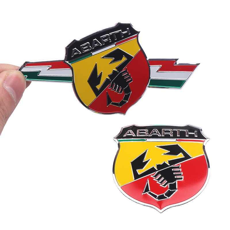 金属アルミイタリアステッカーサソリ粘着 Abarth バッジデカールエンブレムフィアット Viaggio Abarth Punto 124 125 500 カースタイリング