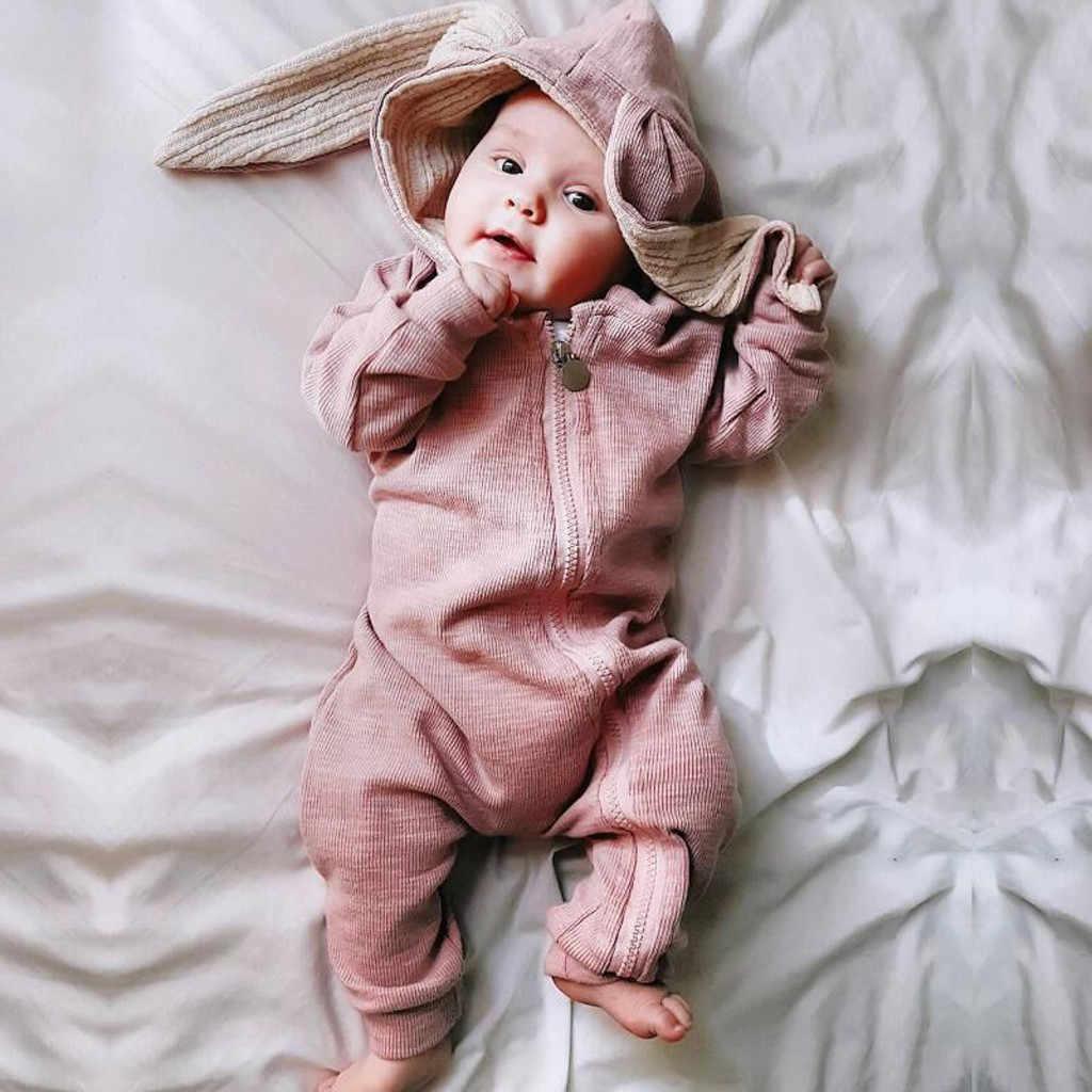 Mới sinh ra quần áo bé trai Romper áo liền quần áo mùa đông bộ trang phục áo liền quần onesie disfraz Bebe Halloween 3-18m Hoạt Hình tay dài Z4