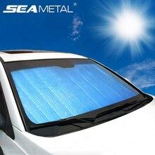 Автомобильный солнцезащитный козырек для интерьера, передняя крышка окна, солнцезащитный козырек, универсальный для внедорожников, лобовое стекло, защита от солнца, УФ-защита, товары, аксессуары