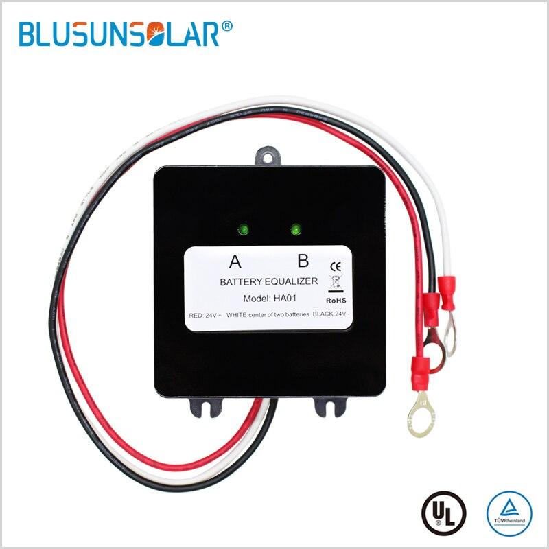 Battery Equalizer For 2x12V  Flood AGM Lead Acid Batteries HA01 Voltage Balancer Lead Acid Battery Charger Regulator In Serial