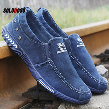 Men Casual Shoes Comfort Denim Male Adult Footwear 2020 New Loafers Canvas Sneakers Plus Size 46