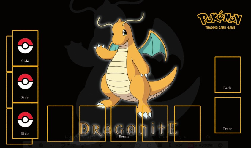 Takara Tomy PTCG Accessories Pokemon Card Board Game Playmate Dragonite Toys For Children