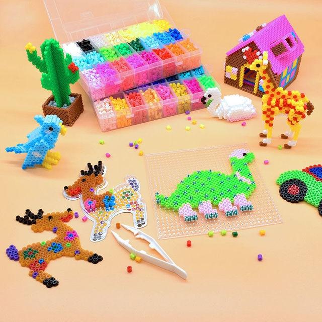 JINLETONG Hama Beads 5mm 1000pcs perler Iron Beads for Kids Hama Beads Diy 3d puzzles  High Quality Handmade Gift Toy 3