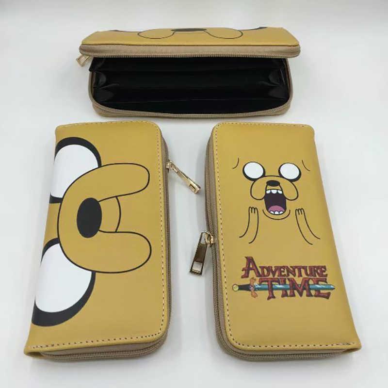 Del fumetto di Adventure Time con Finn e Jake The Dog DELL'UNITÀ di elaborazione raccoglitore lungo della chiusura lampo sacchetto dei soldi della borsa Del Capretto Del regalo