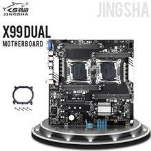 JINGSHAซ็อกเก็ตDual X99เมนบอร์ดLGA 2011 V3/V4 Gigabit Ethernet VGA, USB3.0,10 * SATA3.0, NVMe M.2, 8 * DDR4 Up To 256GB