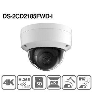 Image 3 - Hikvision Original DS 2CD2185FWD I 8MP CCTV cámara RED Cámara H.265 4K IP Cámara Audio alarma interfaz 30M IR Mini domo OEM