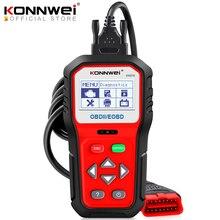 KONNWEI KW818 ulepszony skaner diagnostyczny samochodu OBDII ODB2 EOBD 12V Tester baterii sprawdź silnik silnika motoryzacyjny czytnik kodów błędów