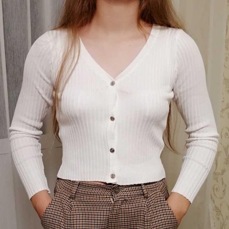 Misswim 섹시한 단추 니트 스웨터 카디건 여성 슬림 늑골이있는 겨울 가을 스웨터 여성 패션 플러스 사이즈 니트웨어 2020