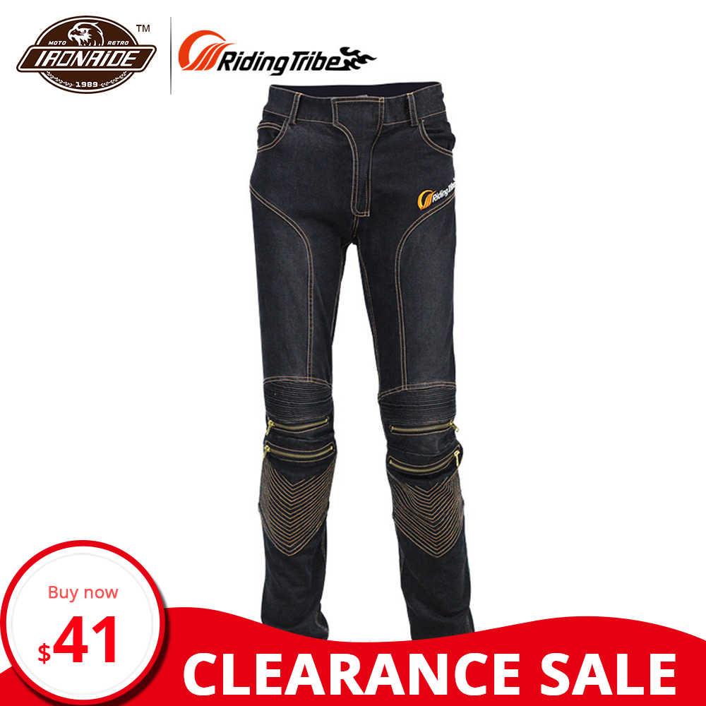 Liquidazione! Equitazione Tribù degli uomini Dei Jeans Da Moto Motocross Pantaloni Moto Da Corsa Traspirante Stretch Biker Pantaloni HP-05