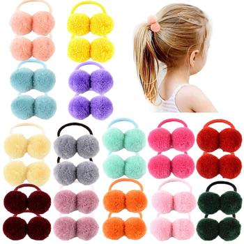 1 adet kürk topu elastik hava bağları kız at kuyruğu tutucu çocuklar halat saç bandı yaylar saç aksesuarları güzel kız 979