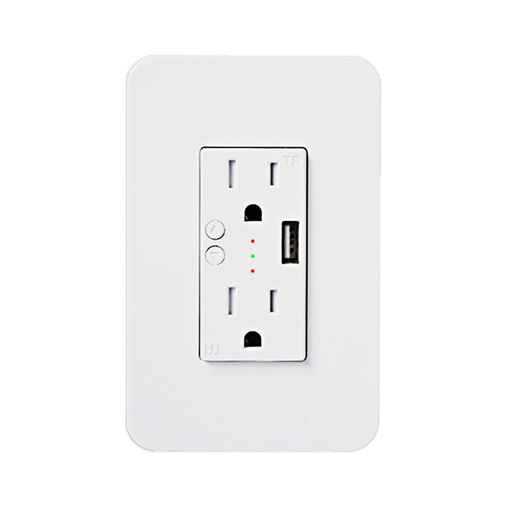 American Standard 2 Socket With USB Smart Socket Panel, Support Google Home Alexa Tuya