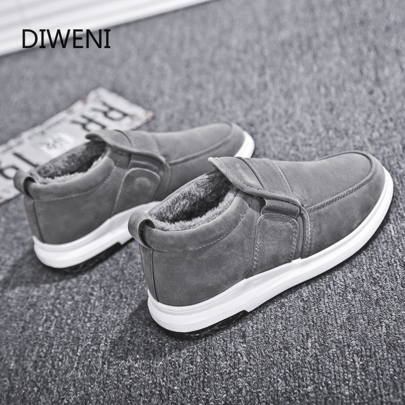 DIWEINI Winter Men's Boots Warm Boot Male Waterproof Shoes Chaussure Mans Casual Shoes For Men Boots Footwear Male Sneakers B153
