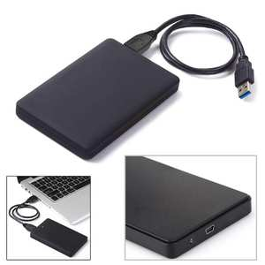 2.5 inch HDD SSD Case Slim HDD Enclosure USB 2.0 to SATA Hard Disk Drives Case 2TB External Hard Disk Case With USB Cable
