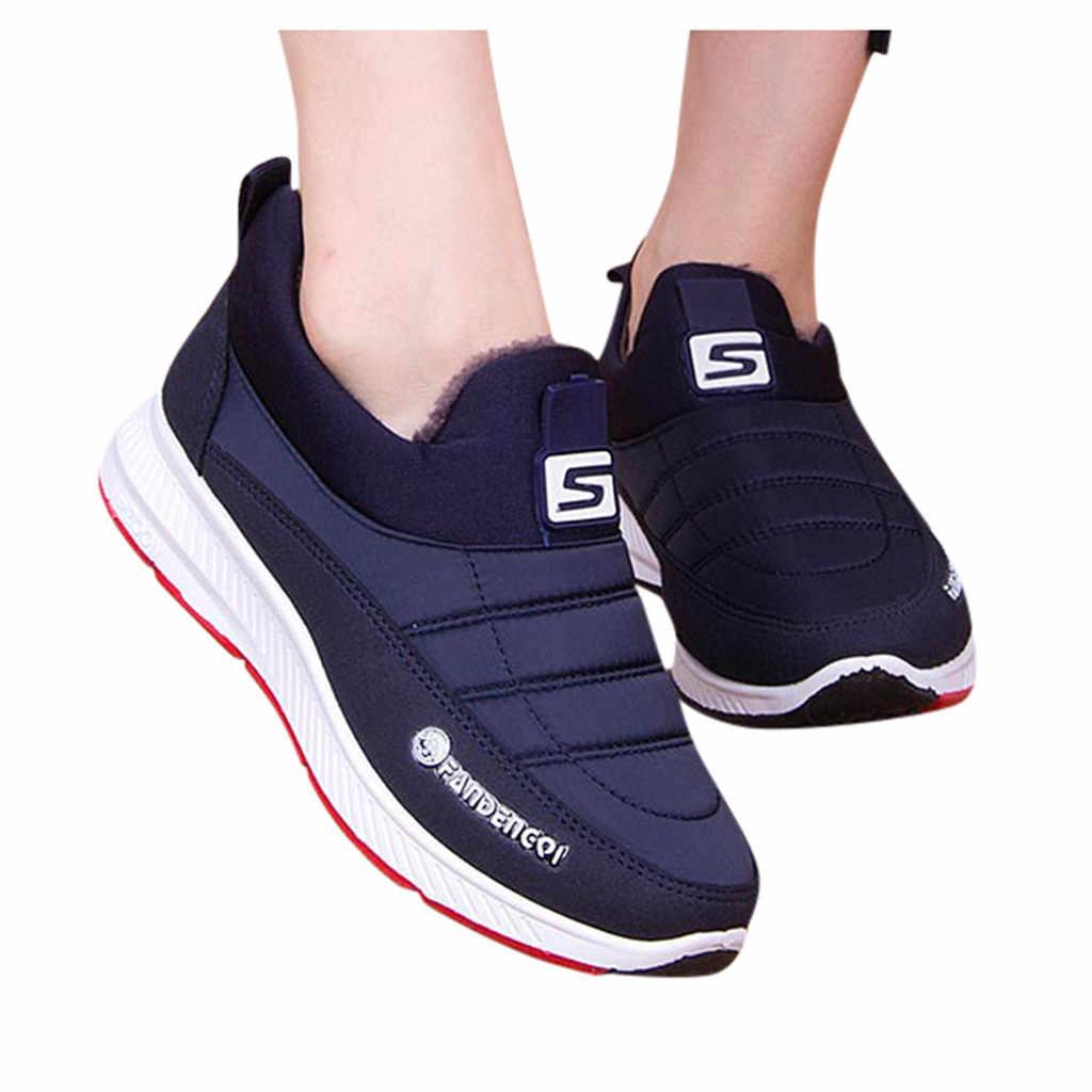 ผู้หญิงแฟชั่นผู้หญิงฤดูหนาว WARM รอบ Toe รองเท้าข้อเท้าสั้นรองเท้า Casual Plus กำมะหยี่กันน้ำ Snow Botas mujer
