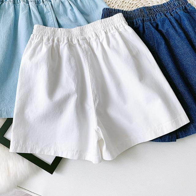 Summer Women Denim Shorts Casual High Waist Stretch Casual White Shorts Female Trousers Outwear Women Summer Shorts 1