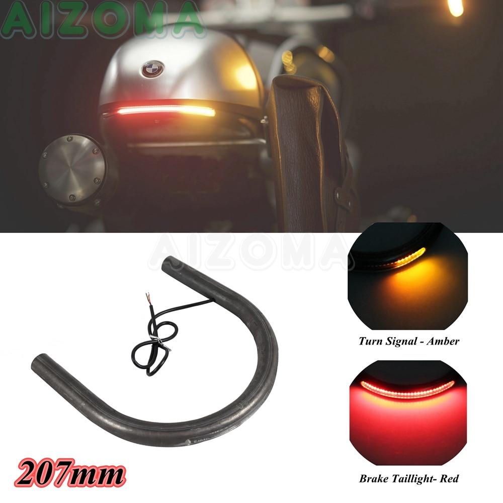Cafe Racer Frame Hoop Brat Style Seat Loop w// LED Brake Turn Signal Light For GS