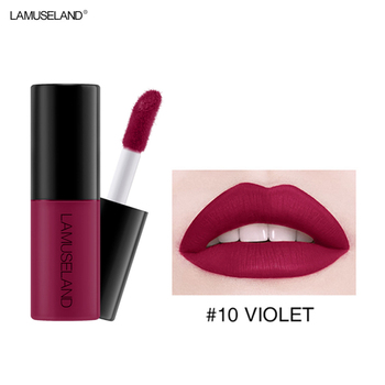 12 Color Matte Nude Velvet Texture Lip Gloss Waterproof Non-stick Cup Sexy Charming Lip Makeup Lip Gloss TXTB1