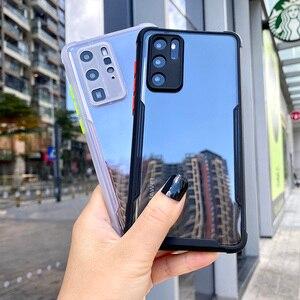 Luxus Stoßfest Rahmen Klare Telefon Fall Für HUAWEI P40 P30 Pro Lite Objektiv Volle Schutzhülle Transparent Abdeckung Für Huawei P 40 P30