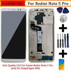 """Image 1 - Xiaomi Redmi için not 5 Pro lcd ekran ekran çerçeve ile 5.99 """"10 dokunmatik ekran değiştirme Redmi not 5 pro LCD Snapdragon 636"""