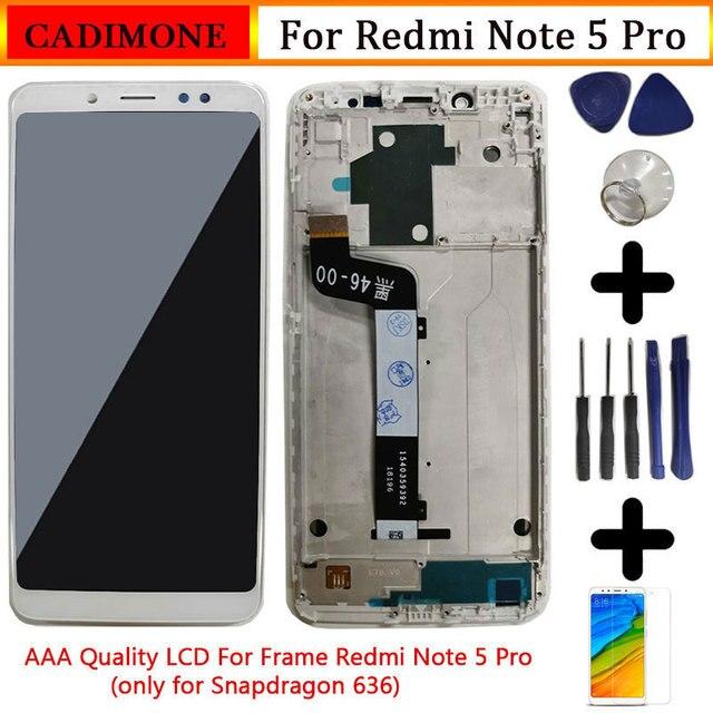 """Xiaomi Redmi için not 5 Pro lcd ekran ekran çerçeve ile 5.99 """"10 dokunmatik ekran değiştirme Redmi not 5 pro LCD Snapdragon 636"""