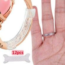 12 pçs anel de silicone tamanho ajustador anel apertar anel invisível sizer espaçador anéis tamanho reduzindo para anéis universal