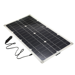 Image 3 - 50W Monocrystalline Silicon Solar Panel Cell for Battery Cell Phone Chargers Cigarette Lighter Double USB Interface 12V/5V