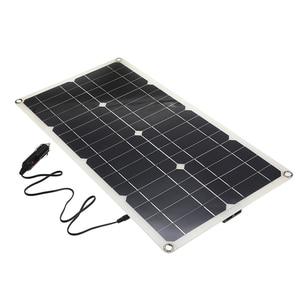 Image 3 - A pilha monocristalina do painel solar do silicone 50 w para a relação dobro 12 v/5 v do usb do isqueiro dos carregadores do telefone da pilha da bateria