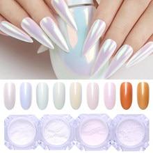 1 коробка жемчужный Блестящий Порошок для ногтей неоновый блестящий эффект хромовый пигмент для ногтей зеркальная Пыль для самостоятельно...