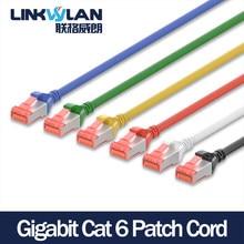 (5 unidades/pacote) rj45 cat 6 sftp cabo 0.25m/0.5m/1m/1.5m/2m/3m/5m para opcional-7 cores disponíveis protegido lszh