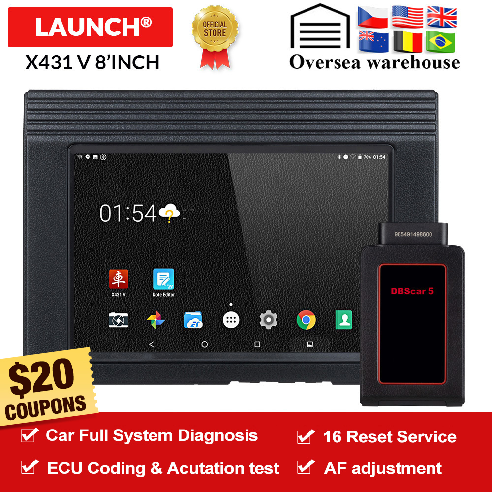 LAUNCH X431 V Bluetooth Wifi Car Full System Diagnostic Tool ECU Coding DPF TPMS 16 Reset V Pro Mini OBD2 Code Reader Scanner