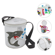 Tote-Pouch Beach-Bag Adjustable Mesh for Kids Travel Toy-Organizer Sundries-Net Zipper