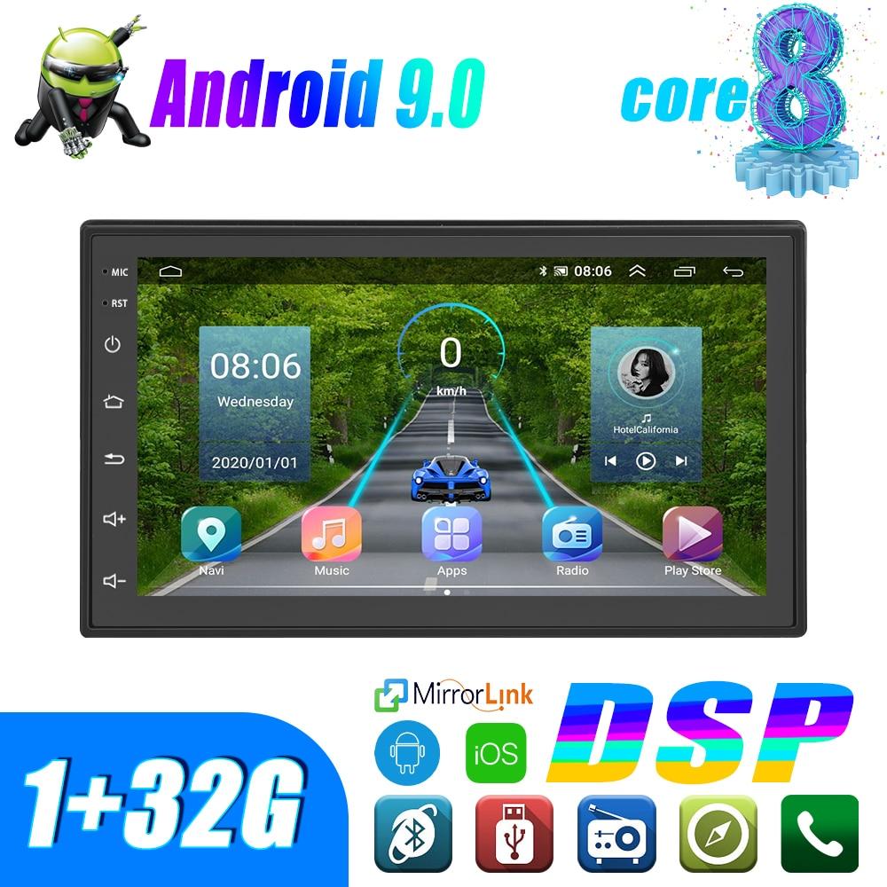 Podofo Android 2 Din Radio samochodowe multimedialny odtwarzacz wideo uniwersalny FM Auto Stereo GPS dla volkswagena Nissan Hyundai Kia toyota