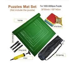 Quebra-cabeças esteira rolo de feltro esteira do jogo grande para até 3000 peças acessórios do enigma viagem portátil rastejando esteira do bebê brinquedos