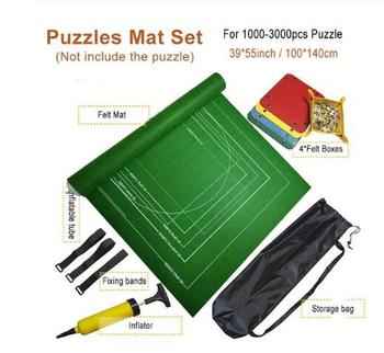 Puzzles Mat Jigsaw Roll Felt Mat Play Mat Large For Up To 3000 Pieces Puzzle Accessories Portable Travel Crawling Mat Baby Toys