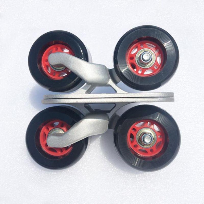 Drift Board Shock Resistant Portable Aluminum Alloy Split Skateboard Roller Drift Skates Plate With PU Wheels For Fitness New