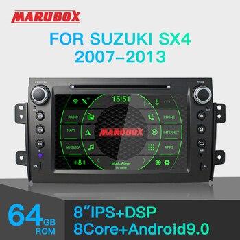 Marubox KD8072 DSP, 64 GB jednostka główna dla Suzuki SX4 2007-2013, samochodowy odtwarzacz multimedialny, Android 9.0, 8 rdzeń z DVD