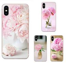 Pink Flower Peony On The Vase For Huawei Nova 2 V20 Y3II Y5 Y5II Y6 Y6II Y7 Y9 G8 G9 GR3 GR5 GX8 Prime 2018 2019 Unique(China)