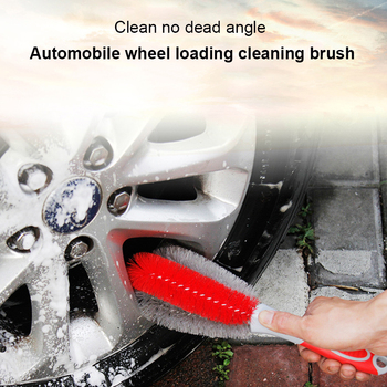 Car Wash Wheel Brush Rim Cleaning Tool Portable Tire Cleaning Brush Car Repair & Maintenance Auto Parts Automobile Accessories image