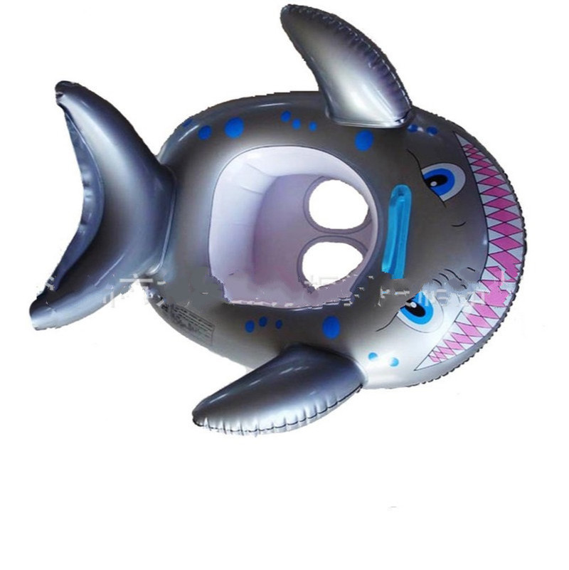 Hot Sale Inflatable Shark Boat Swimming Ring Seat Creative Baby Water Swimming Swimming Ring Infant Supplies Durable In Use