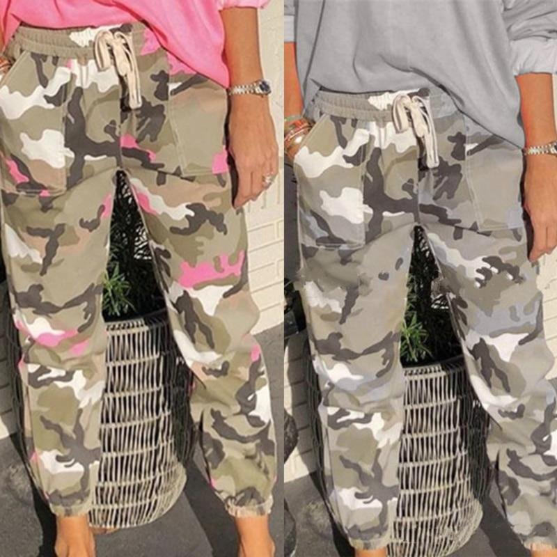 Harem Pants Camo Cargo Trousers Casual Pants 1