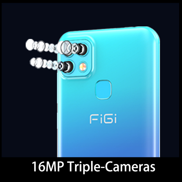 FIGI Note 1 Pro Smartphone 6.6 Display 4000mAh Battery Helio P25 Octa Core 4GB 128GB Mobile phone 16MP Triple Camera Telephone 2