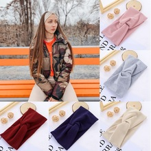 Knot Headbands Winter-Accessories Knitted Elastic Solid-Color Cotton Fashion Women Twist